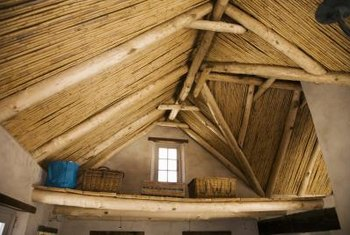 A tall wood ceiling may be the focal point of a room.