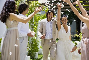 A couple may hire an event planner to organize a wedding.