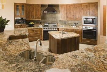 Granite counters convey an upscale, earthy appeal to any kitchen.