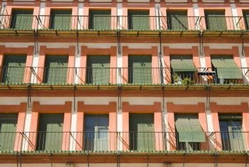 Simple Spanish shades often hang over balconies.