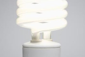 Using compact fluorescent lightbulbs can help save energy in your home.