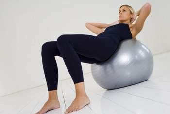 An exercise ball may make crunches easier on your back.