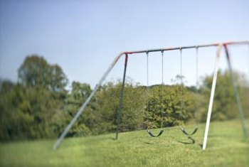 Anchoring keeps a swing set stable.