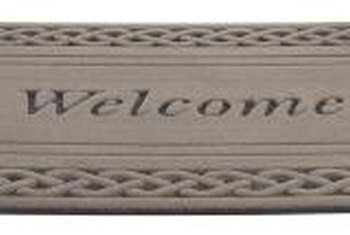 Outdoor welcome mats are created with the needle-punch process.