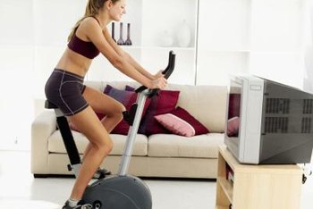 The indoor bike is an efficient home-exercise tool.