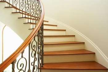 Appropriately decorate alongside an elegant staircase in a formal home.