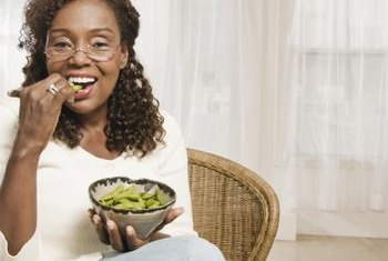 Snack on steamed edamame beans for a low-fat, high-fiber snack.
