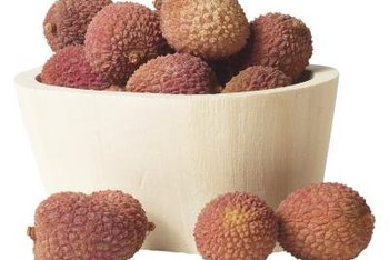 Lychee flowers are followed by edible fruit.
