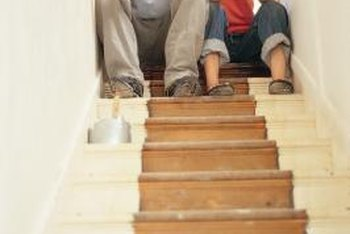 Get rid of shabby carpeting and give your stairs new life with paint.