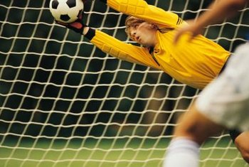 As a goalkeeper, you need strong arms and shoulders.