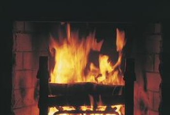 It takes a strong cleaner to remove baked-on fireplace soot.