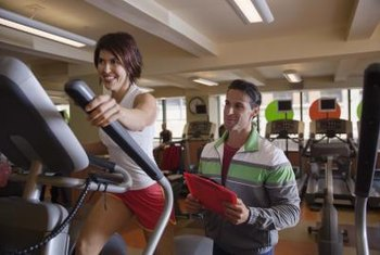 Pump the elliptical's handles for a total-body workout.