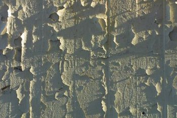 Peeling can result from applying epoxy paint before concrete has fully cured.