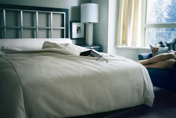 Find a headboard that fits your style by using alternative materials.