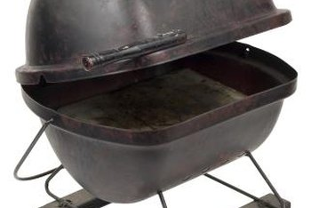 To smoke foods, you need a charcoal grill with a lid and vents.