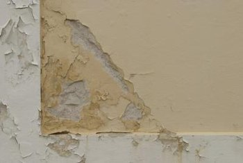 Peeling paint is the result of poor adhesion.