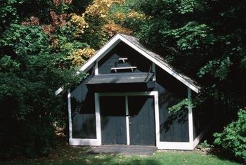 Traditional sheds work well with homes of more classic architectural styles.