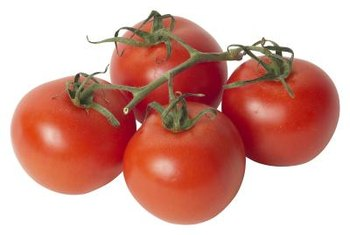 Choose small tomato varieties for an upside-down container.