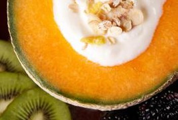 Boost your vitamin A intake with fresh cantaloupe.