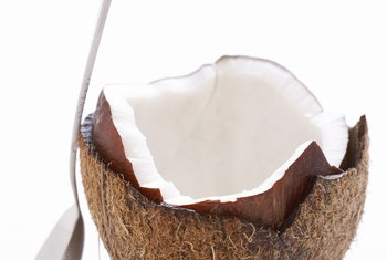 Coconuts are rich in dietary fiber and iron.
