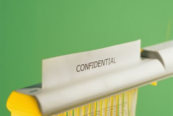 Many organizations keep certain information confidential