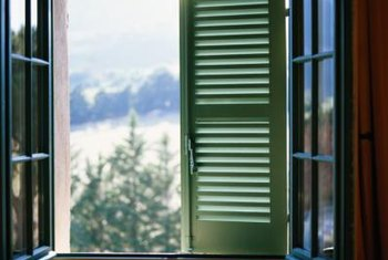 Operable shutters add a layer of protection for windows.