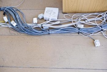 Rather than fishing wires or using extension cords, extend wiring with raceway conduit.