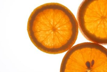 Oranges are usually peeled and eaten in sections.