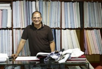 Apply for a business license to operate a fabric store in your area.