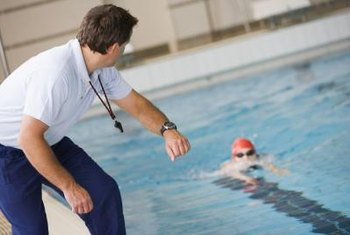 Certified swim instructors teach swimming lessons for individuals of all ages.