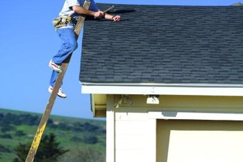 Roofers must be comfortable with heights.
