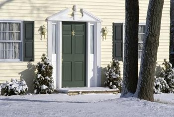 Use your front door for a splash of color against neutral-looking siding.