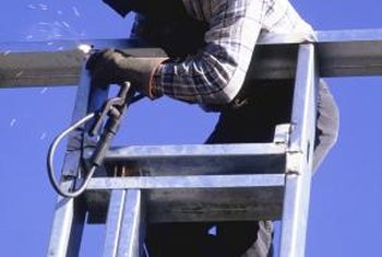Welders sometimes work in awkward, risky positions.