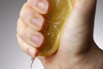 The natural acids in lemon juice help remove greasy stains.