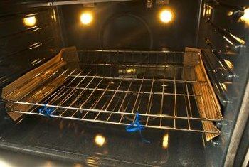 Oven racks should slide smoothly in the wall grooves.