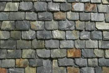Some homes also have slate tiles on their roofs -- testament to its durability.
