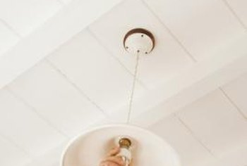 Replace porcelain light sockets in lamps and ceiling light fixtures.