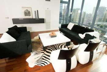 Modern furniture design and minimal accessories enhance contemporary style.
