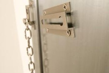 The modern door chain is just a primitive latch.