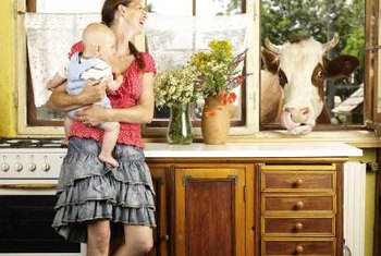 The cow is optional when designing your western kitchen.