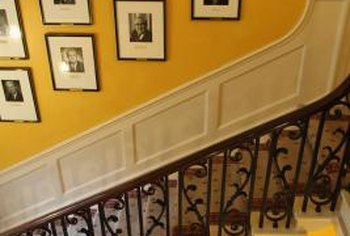 Follow the stair slope with photos, either singly or in groupings.