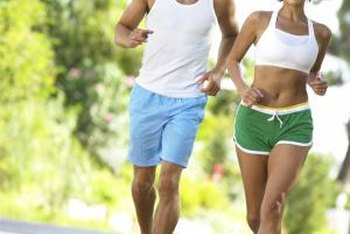 Jogging can give partners time together as they keep in shape.