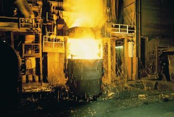 Steel plants or mills employ a variety of workers, from management to those who work with the machinery to administrative support personnel.