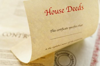 House deeds are evidence of the transfer of property.