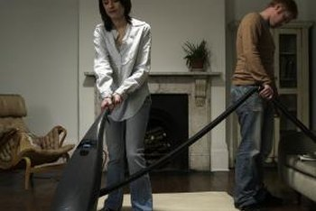Vacuum or dust your hardwood floor regularly to keep it clean and shiny.