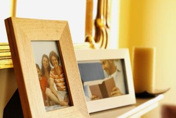 Decorate a home office or computer room with a personalized photograph collection.