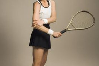 Using a 2-handed backhand may decrease elbow pain.
