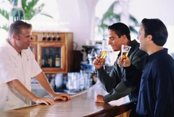 Bartenders should have a good rapport with customers.