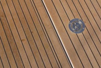 Teak wood decks must be completely clean before oiling.