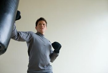 Punching bag workouts help you improve your striking and punching technique.